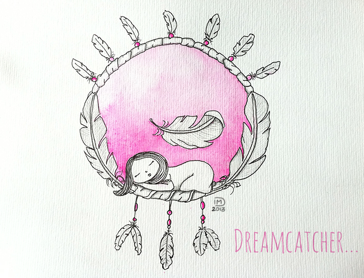 Illustration jeunesse Dreamcatcher