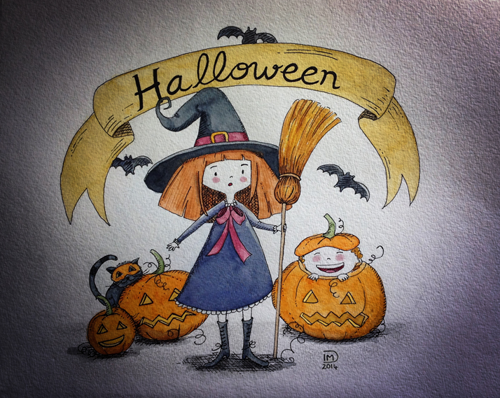 Illustration jeunesse Halloween