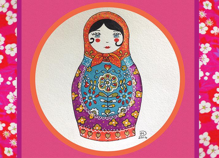 Illustration jeunesse Matriochka