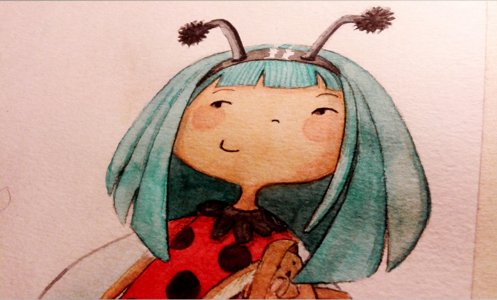 Illustration jeunesse Coccinelle aquarelle