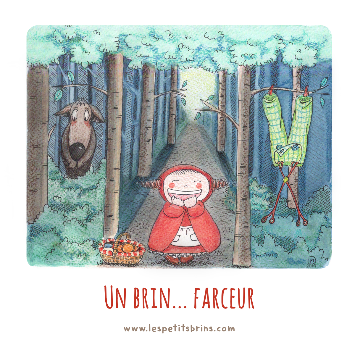 Illustration jeunesse petit chaperon rouge