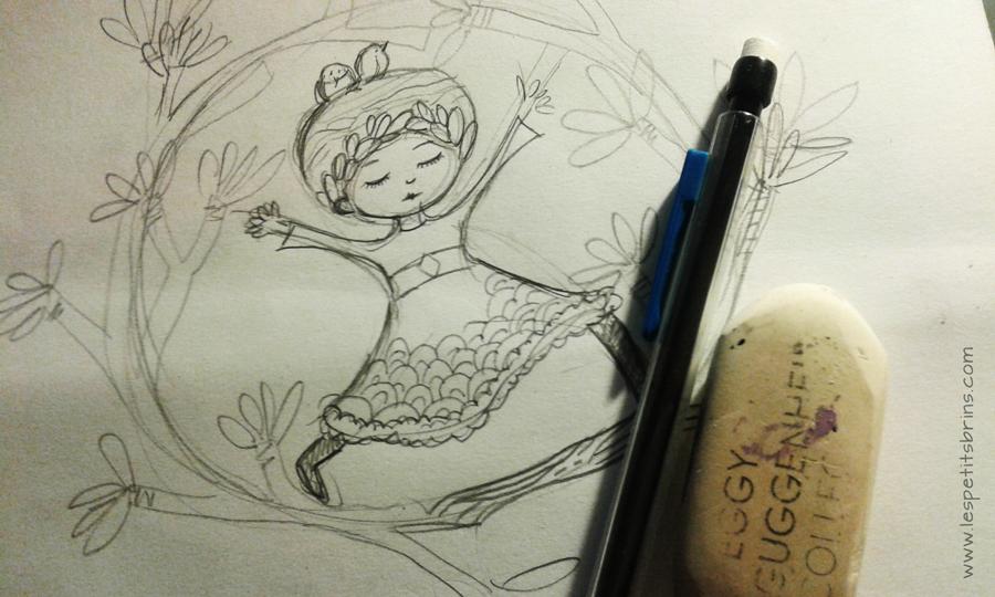Sketch illustration jeunesse - VERT - Love Earth