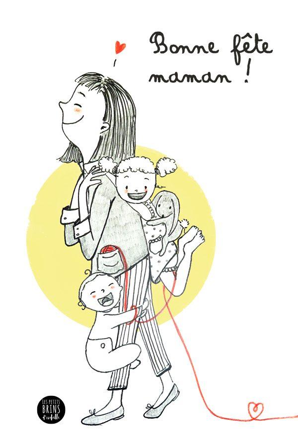 Illustration jeunesse Bonne fête Maman !