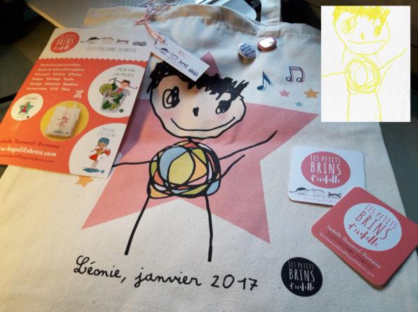 Tote bag dessin enfant sublimé personnalisé - Vos enfants ont du talent !