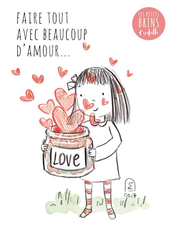 Illustration jeunesse, faire tout avec beaucoup d'amour