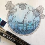 Illustration jeunesse Bleu