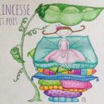 Illustration jeunesse La princesse au petit pois