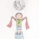 Illustration jeunesse Noah autisme aquarelle