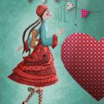 Illustration jeunesse poupée qui fait oui
