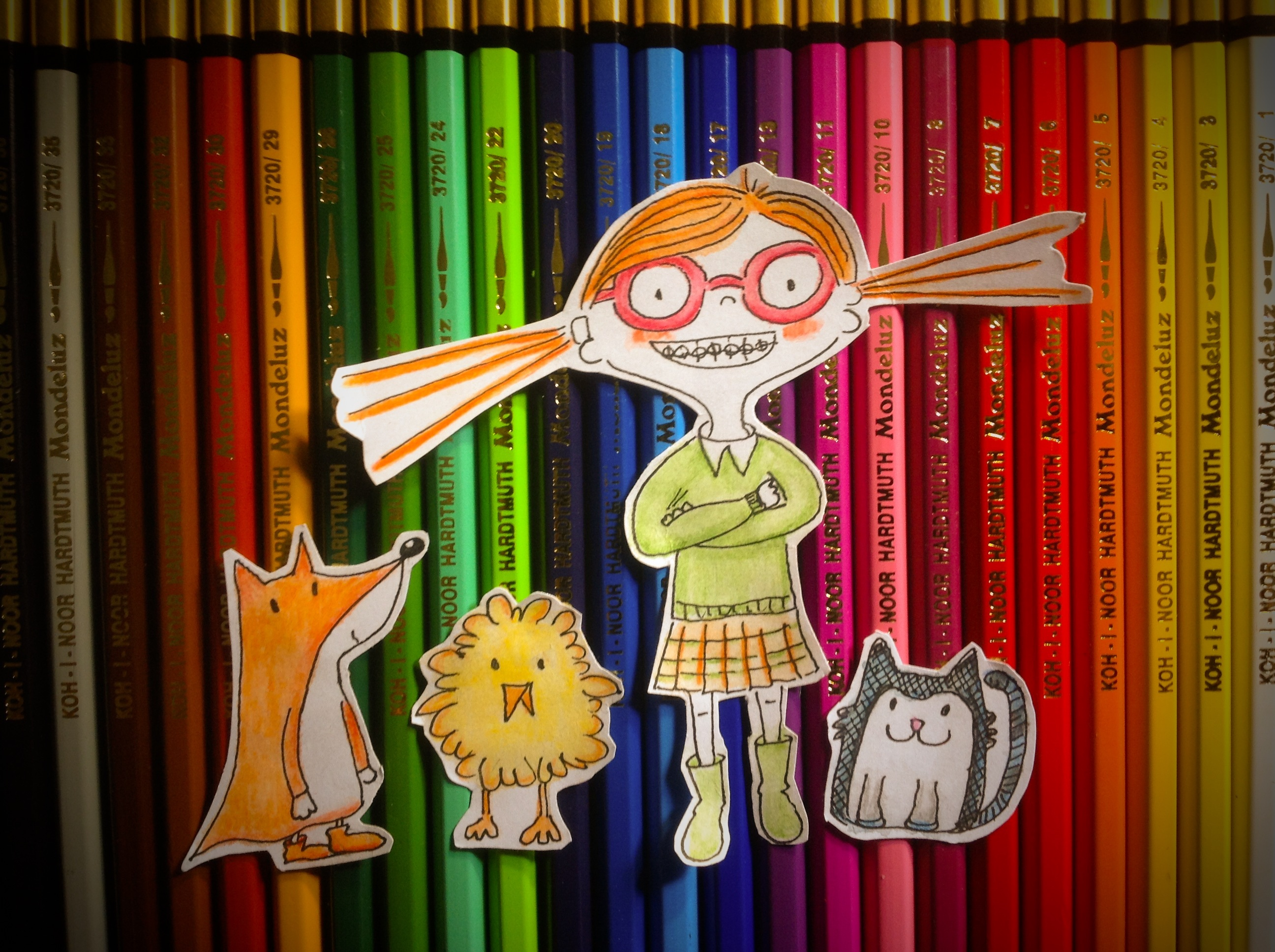 Illustration jeunesse crayons