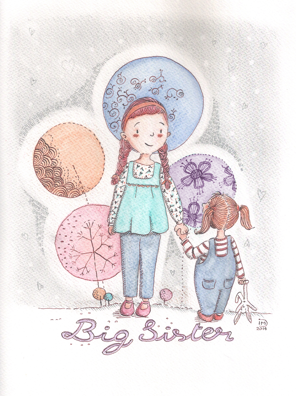 "Illustration jeunesse ""Big Sister"""