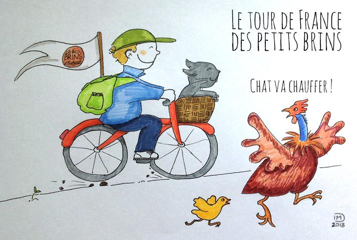 illustration le tour de France des petits brins