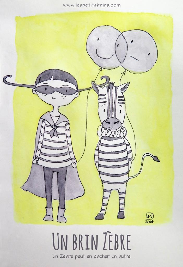 Illustration jeunesse un brin Zèbre