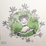 Illustration jeunesse - VERT - Love Earth