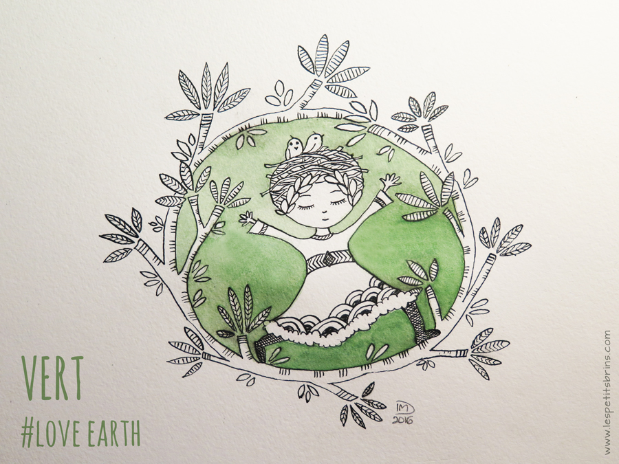 Illustration jeunesse - VERT - Love Earth