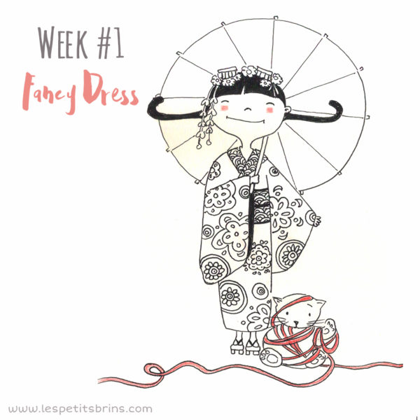 52 weeks illustration challenge fancy dress