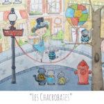Illustration jeunesse Chacrobates - Chats acrobates & funambules - années 1920