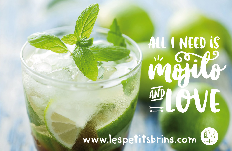 Illustration All I need is love and Mojito