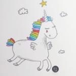 Licorne arc en ciel en mémoire des victimes d'Orlando