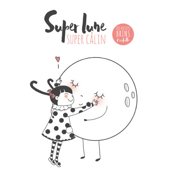 Illustration jeunesse super lune