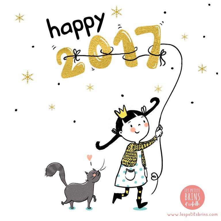 Illustration jeunesse bonne année 2017