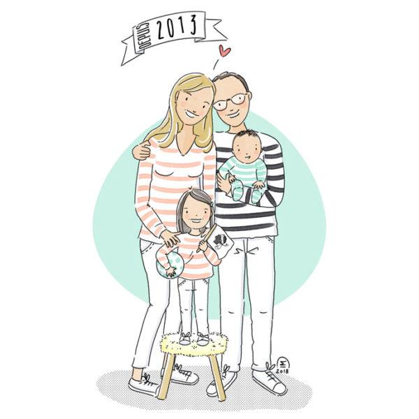 Portrait de famille heureuse