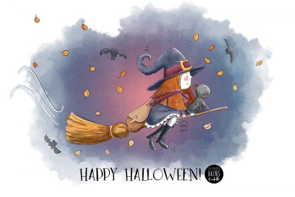 Illustration jeunesse Happy Halloween 2017