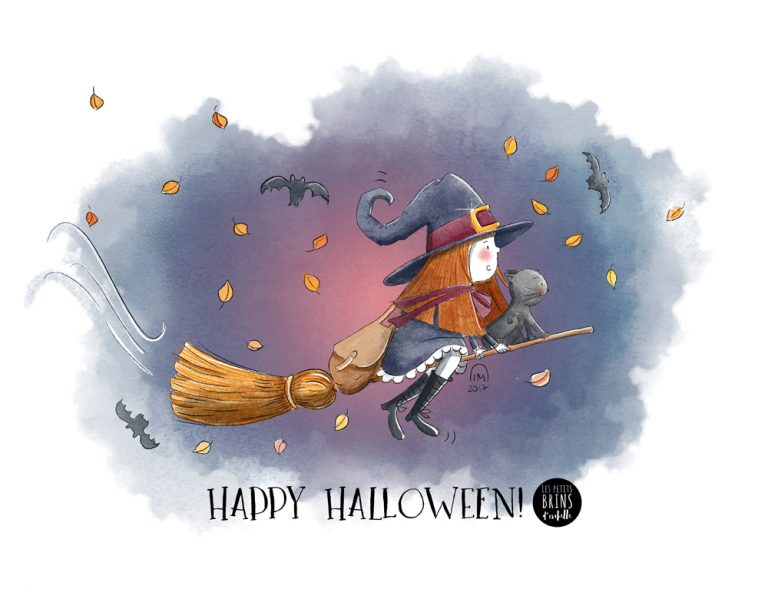 Illustration jeunesse Happy Halloween 2017