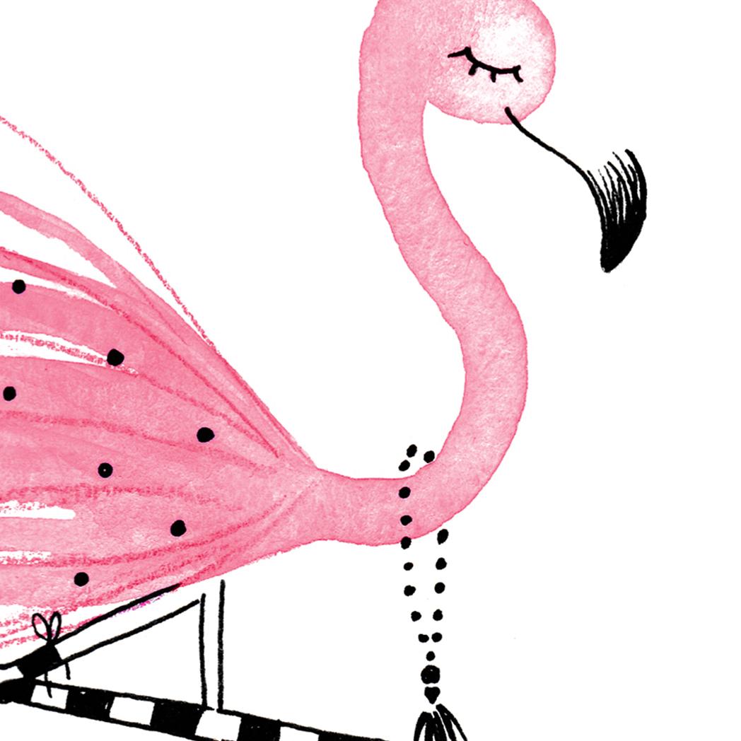 Affiche flamant rose d co chambre b b les petits brins d 39 isabelle - Deco chambre bebe rose ...