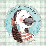 Expression idiomatique illustrée avoir un chat dans la gorge