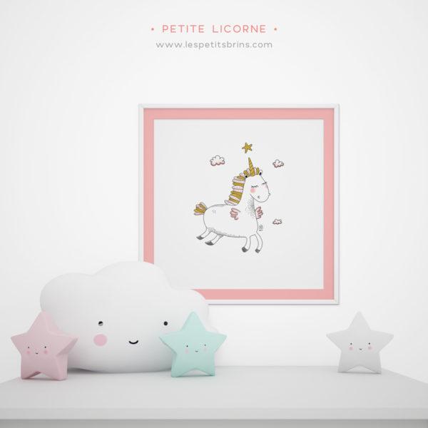 Affiche licorne décoration chambre bébé / enfant