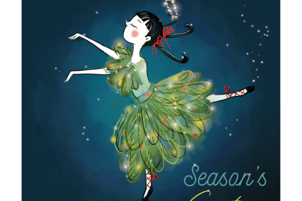 Illustration jeunesse Noël danseuse sapin