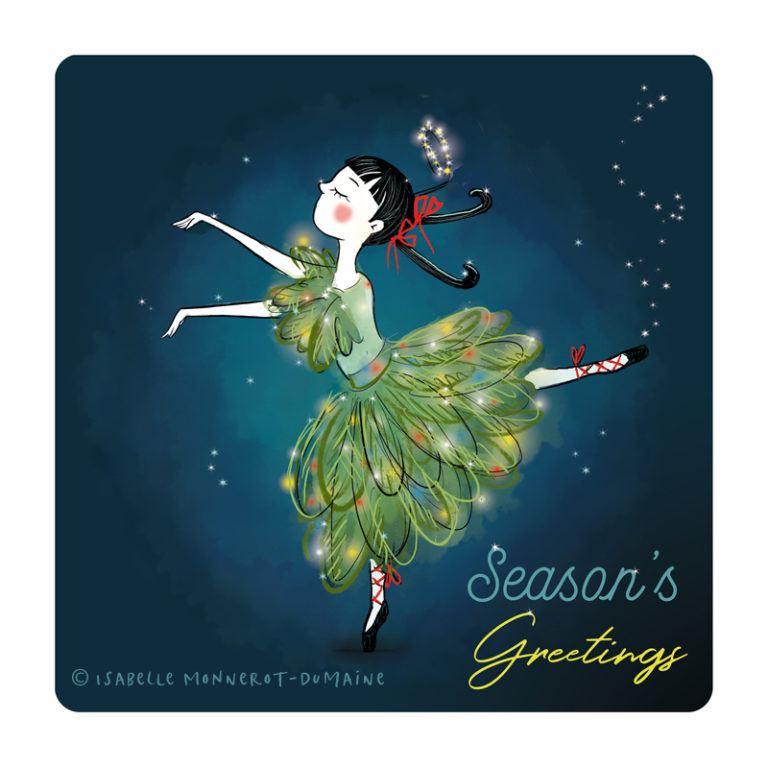 Illustration jeunesse Noël danseuse sapin
