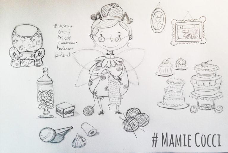 Illustration jeunesse recherche de personnage Mamie