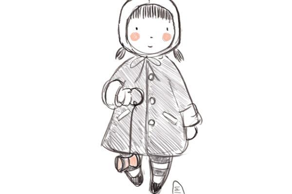 Illustration personnalisée portrait enfant sur commande