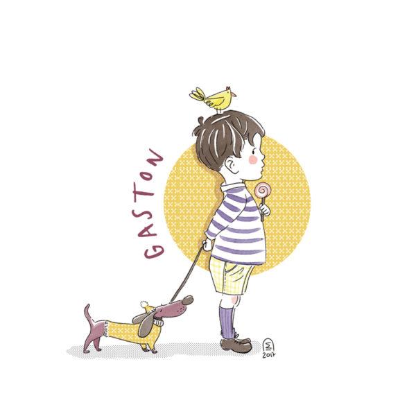 Illustration portrait illustré - personnalisé d'enfant sur mesure