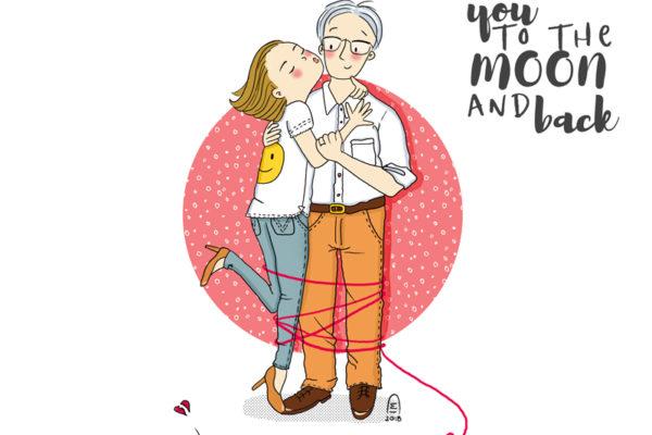 Portrait de couple illustration