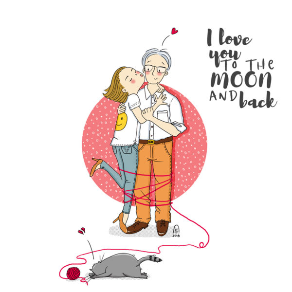 Portrait de couple illustration