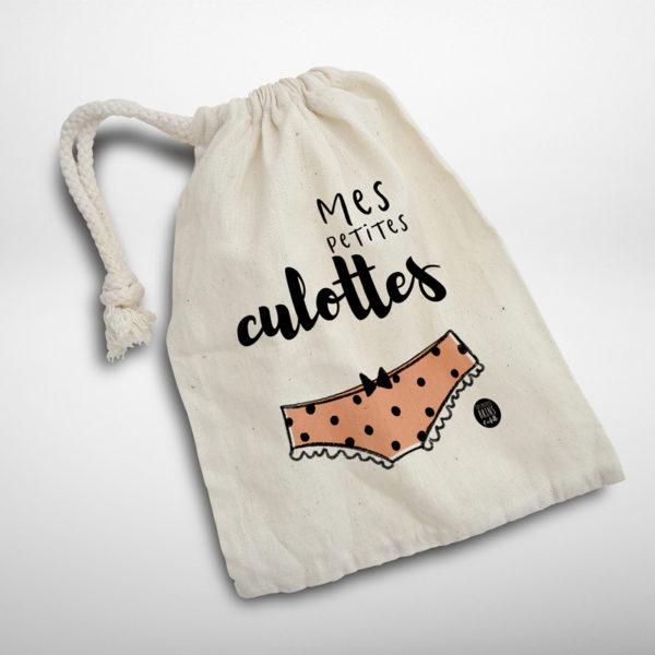 sac à petites culottes et lingerie - Pochette illustrée
