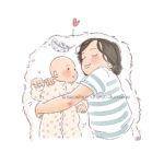 Illustration portrait d'enfant personnalisé sur mesure pour Jeune Maman extraterrestre