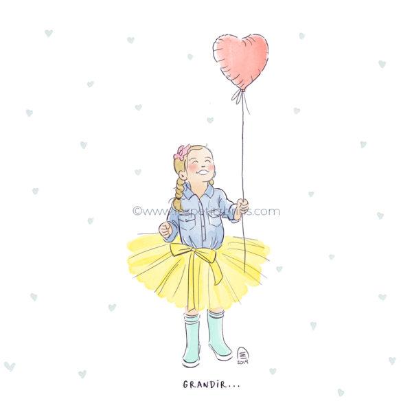 Illustration originale portrait enfant illustré