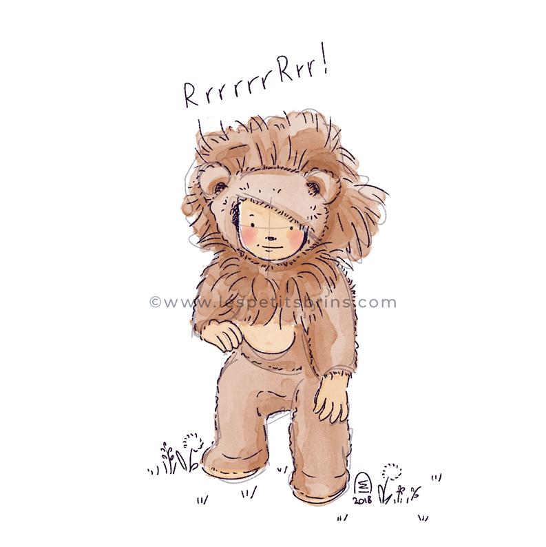 Portrait d'enfant illustré - illustration sur mesure - dessin