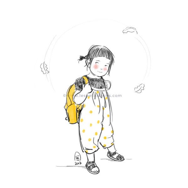 Portrait d'enfant illustré personnalisé - Illustratrice