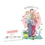 Portrait de famille personnalisé - Illustration