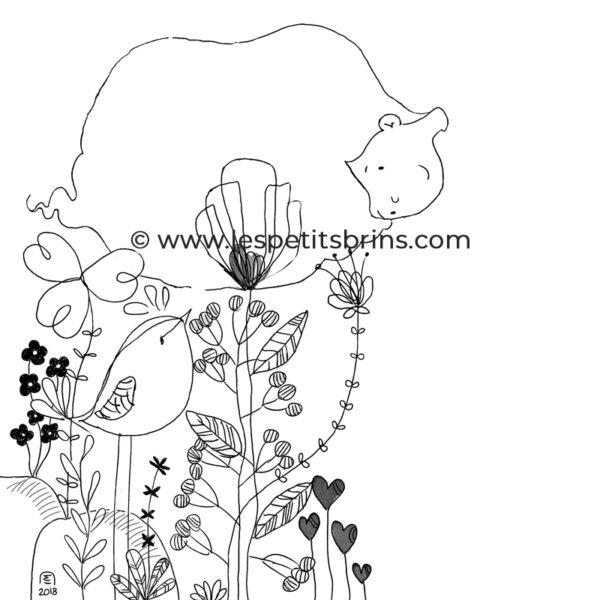 Illustration jeunesse doodle croquis