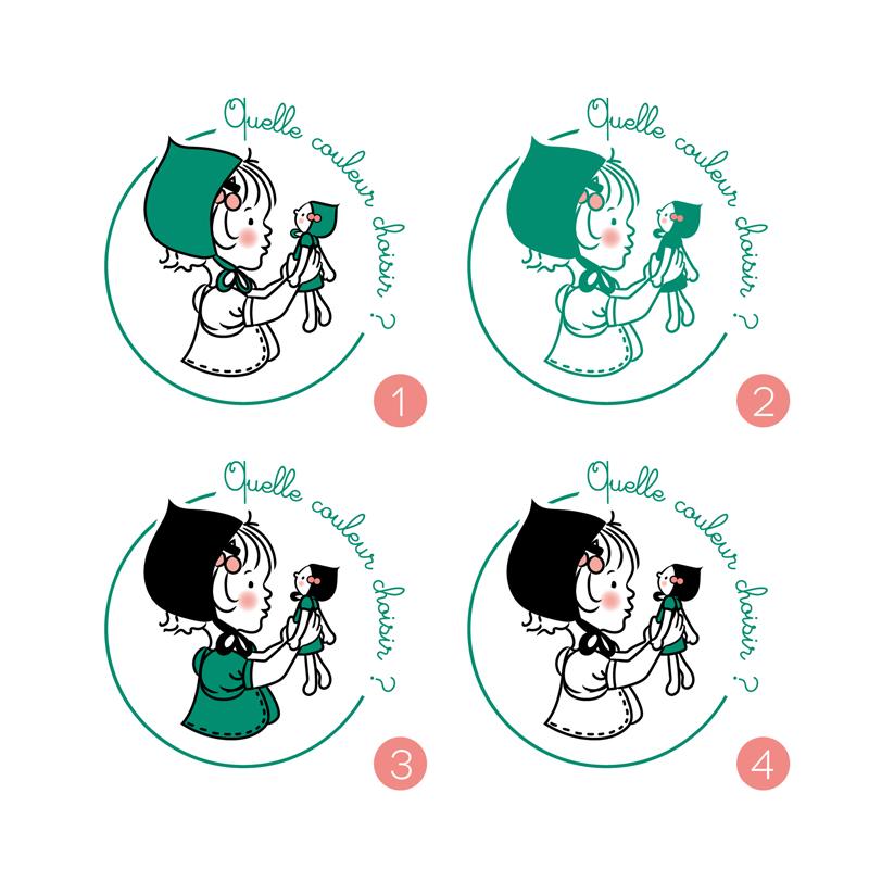 Création de logo - Choix des couleurs pour Rose et puis c'est tout