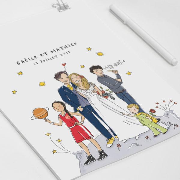 Illustration faire-part de mariage