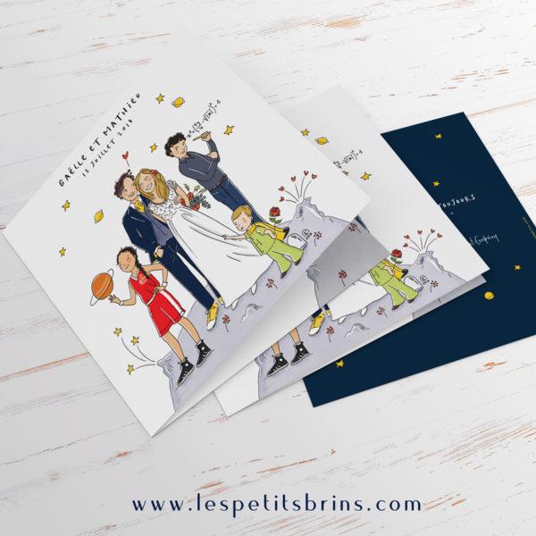 Illustration faire-part de mariage sur mesure illustré