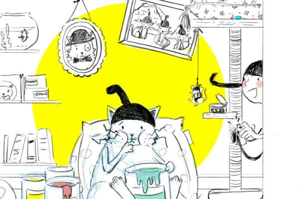Illustration jeunesse voleur de couleurs