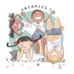 Illustration jeunesse Brins en vacances